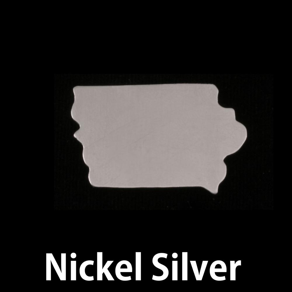 Metal Stamping Blanks Nickel Silver Iowa State Blank, 24g