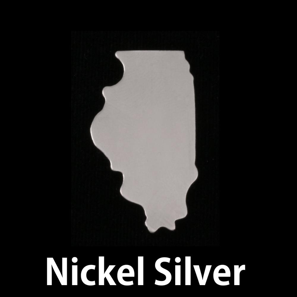 Metal Stamping Blanks Nickel Silver Illinois State Blank, 24g