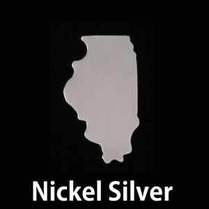 Metal Stamping Blanks Nickel Silver Illinois State Blank, 24g