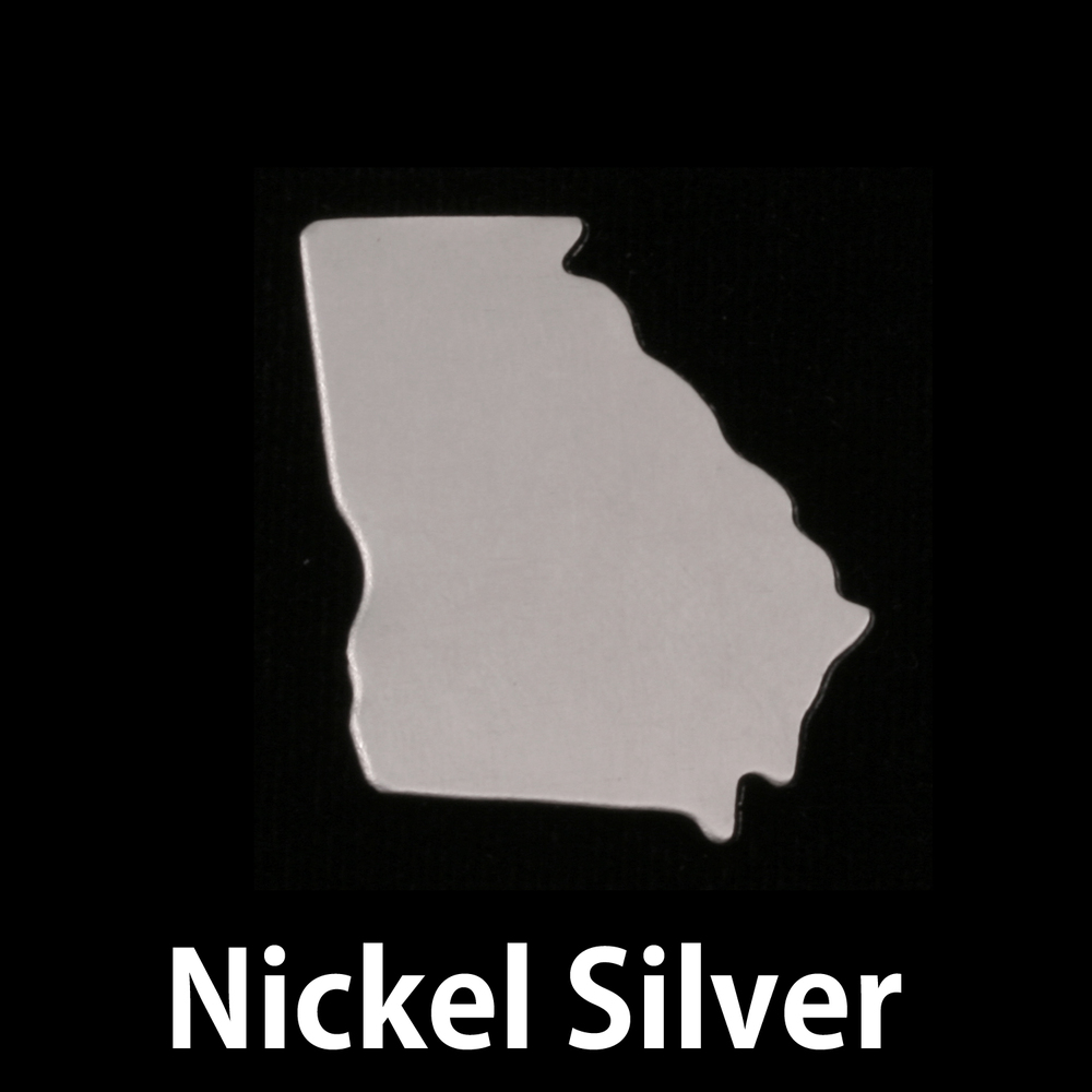Metal Stamping Blanks Nickel Silver Georgia State Blank, 24g