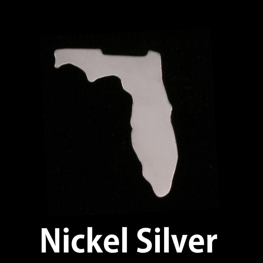 Metal Stamping Blanks Nickel Silver Florida State Blank, 24g
