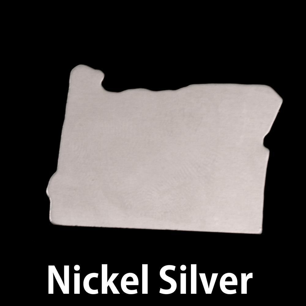 Metal Stamping Blanks Nickel Silver Oregon State Blank, 24g