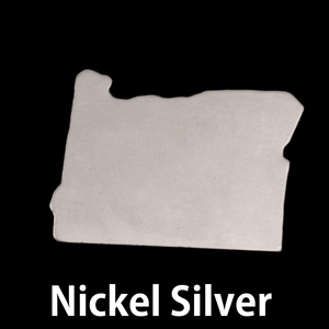 Metal Stamping Blanks Nickel Silver Oregon State Blank, 24g