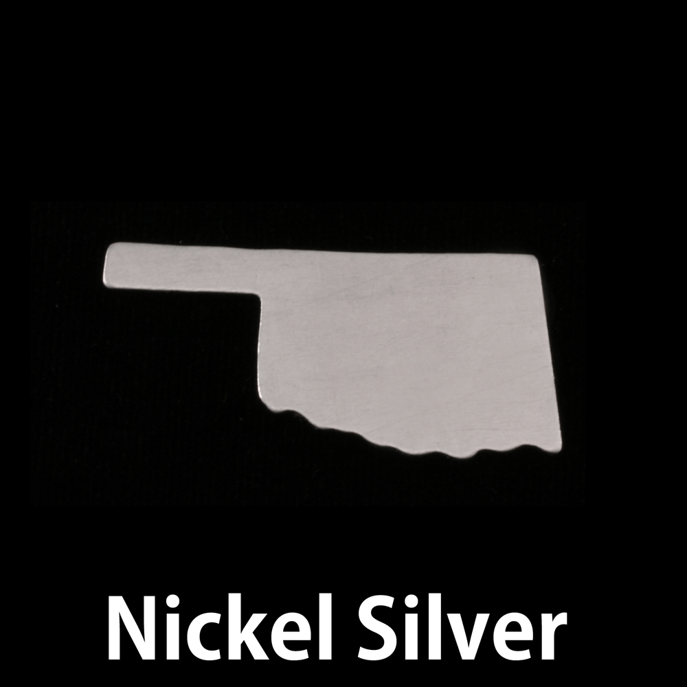 Metal Stamping Blanks Nickel Silver Oklahoma State Blank, 24g