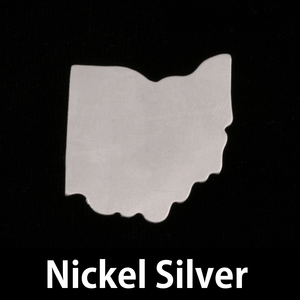 Metal Stamping Blanks Nickel Silver Ohio State Blank, 24g