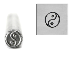 Metal Stamping Tools Yin Yang Metal Design Stamp, 5.5mm