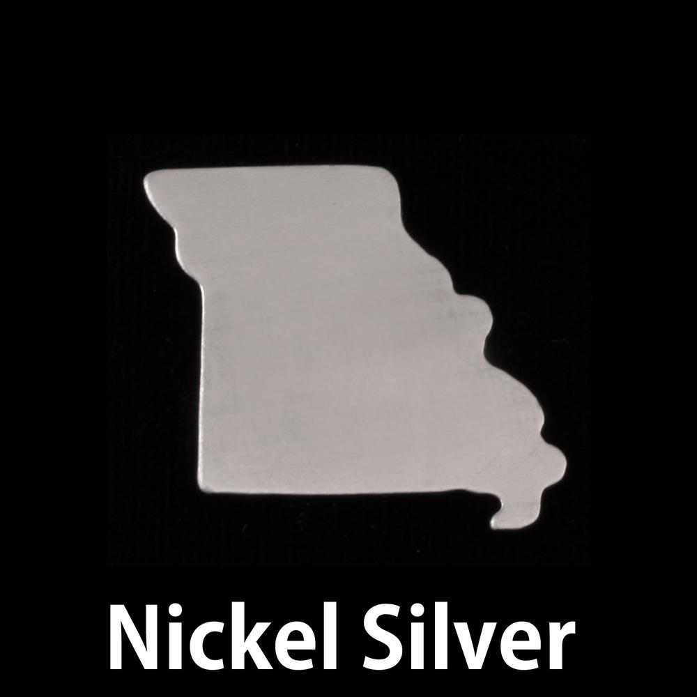 Metal Stamping Blanks Nickel Silver Missouri State Blank, 24g