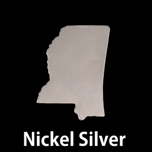 Metal Stamping Blanks Nickel Silver Mississippi State Blank, 24g