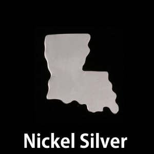 Metal Stamping Blanks Nickel Silver Louisiana State Blank, 24g