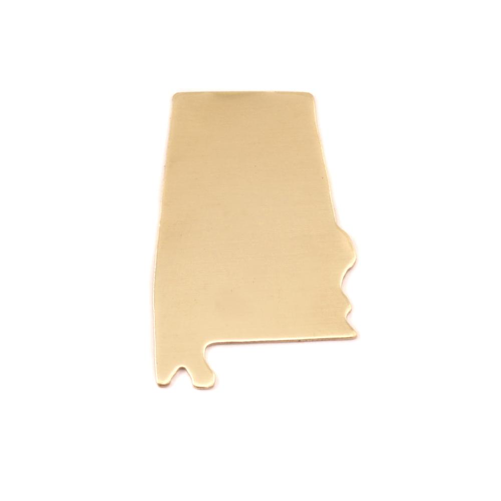 Metal Stamping Blanks Brass Alabama State Blank, 24g