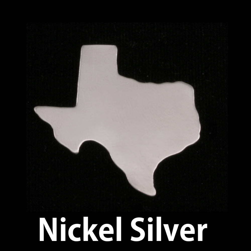 Metal Stamping Blanks Nickel Silver Texas State Blank, 24g