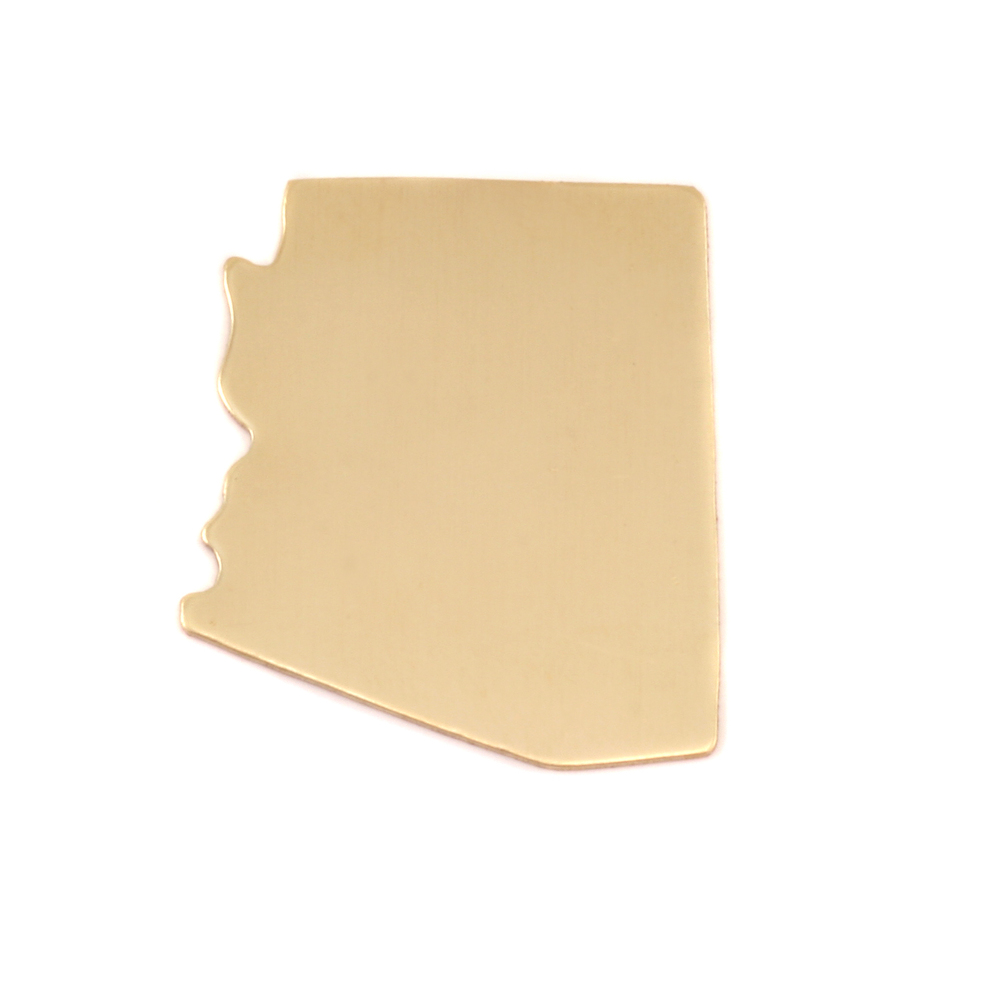 Metal Stamping Blanks Brass Arizona State Blank, 24g