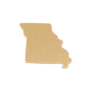 Metal Stamping Blanks Brass Missouri State Blank, 24g