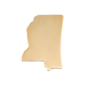 Metal Stamping Blanks Brass Mississippi State Blank, 24g