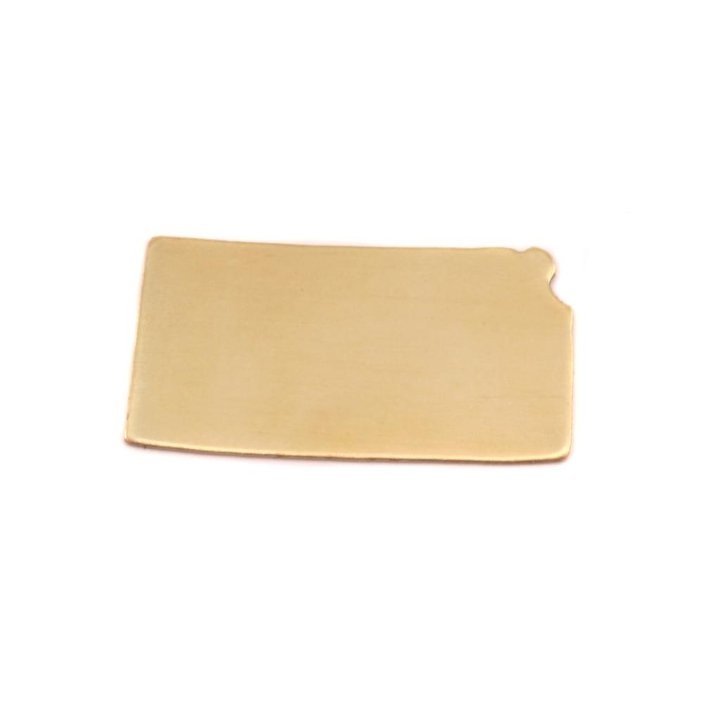 Metal Stamping Blanks Brass Kansas State Blank, 24g