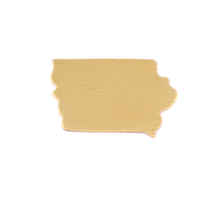Metal Stamping Blanks Brass Iowa State Blank, 24g