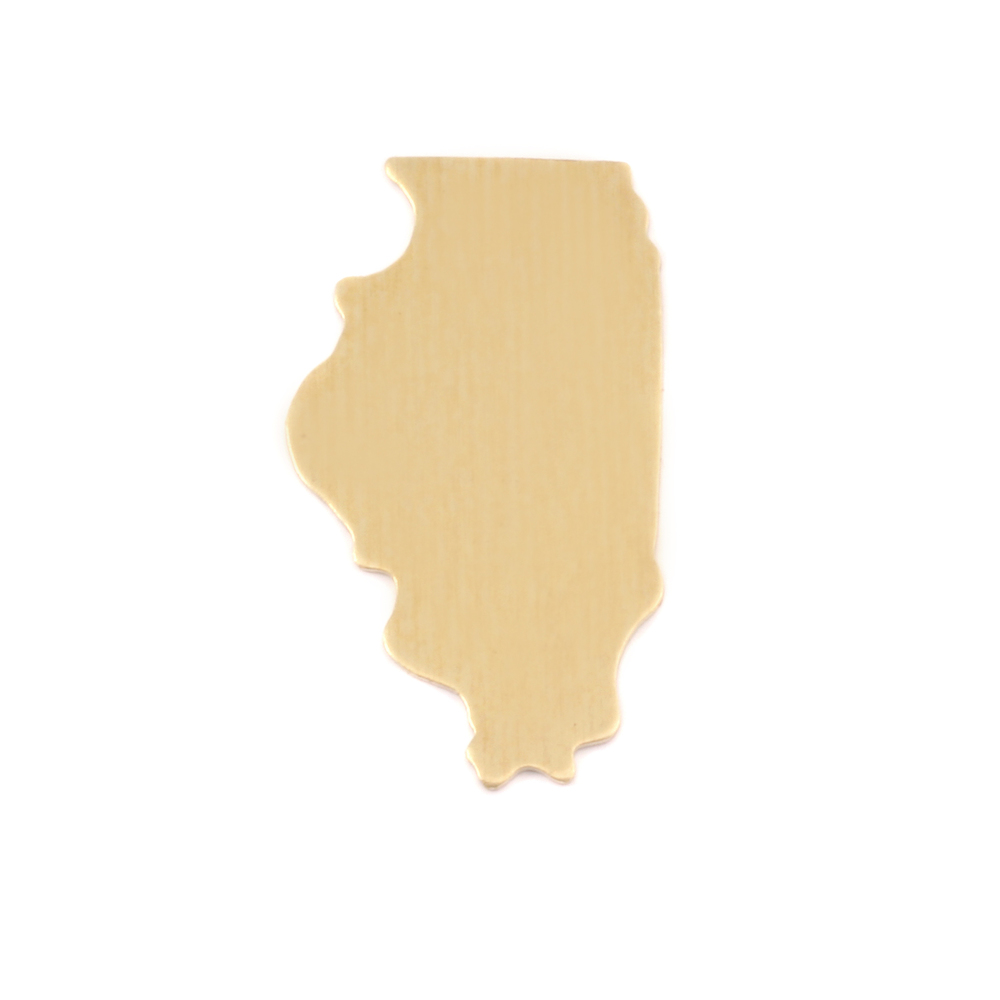 Metal Stamping Blanks Brass Illinois State Blank, 24g