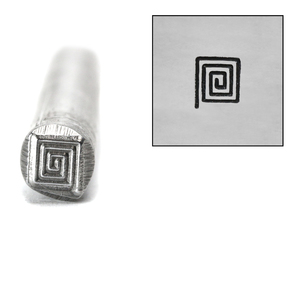 Metal Stamping Tools Square Spiral Metal Design Stamp, 5mm