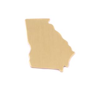 Metal Stamping Blanks Brass Georgia State Blank, 24g