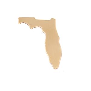 Metal Stamping Blanks Brass Florida State Blank, 24g