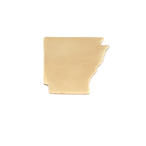 Metal Stamping Blanks Brass Arkansas State Blank, 24g