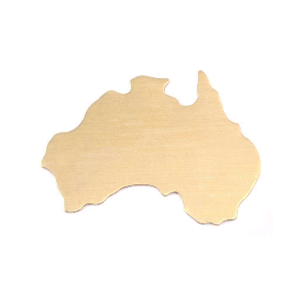 Metal Stamping Blanks Brass Australia Blank, 24g