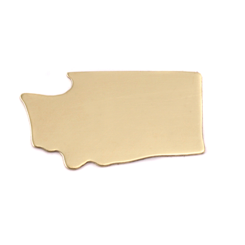 Metal Stamping Blanks Brass Washington State Blank, 24g
