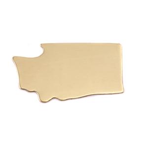 Metal Stamping Blanks Brass Washington State Blank, 24g