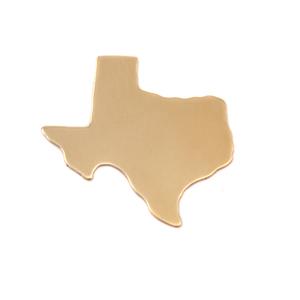 Metal Stamping Blanks Brass Texas State Blank, 24g