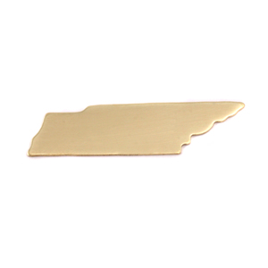 Metal Stamping Blanks Brass Tennessee State Blank, 24g