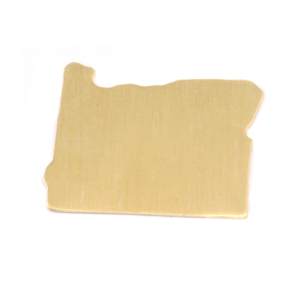 Metal Stamping Blanks Brass Oregon State Blank, 24g
