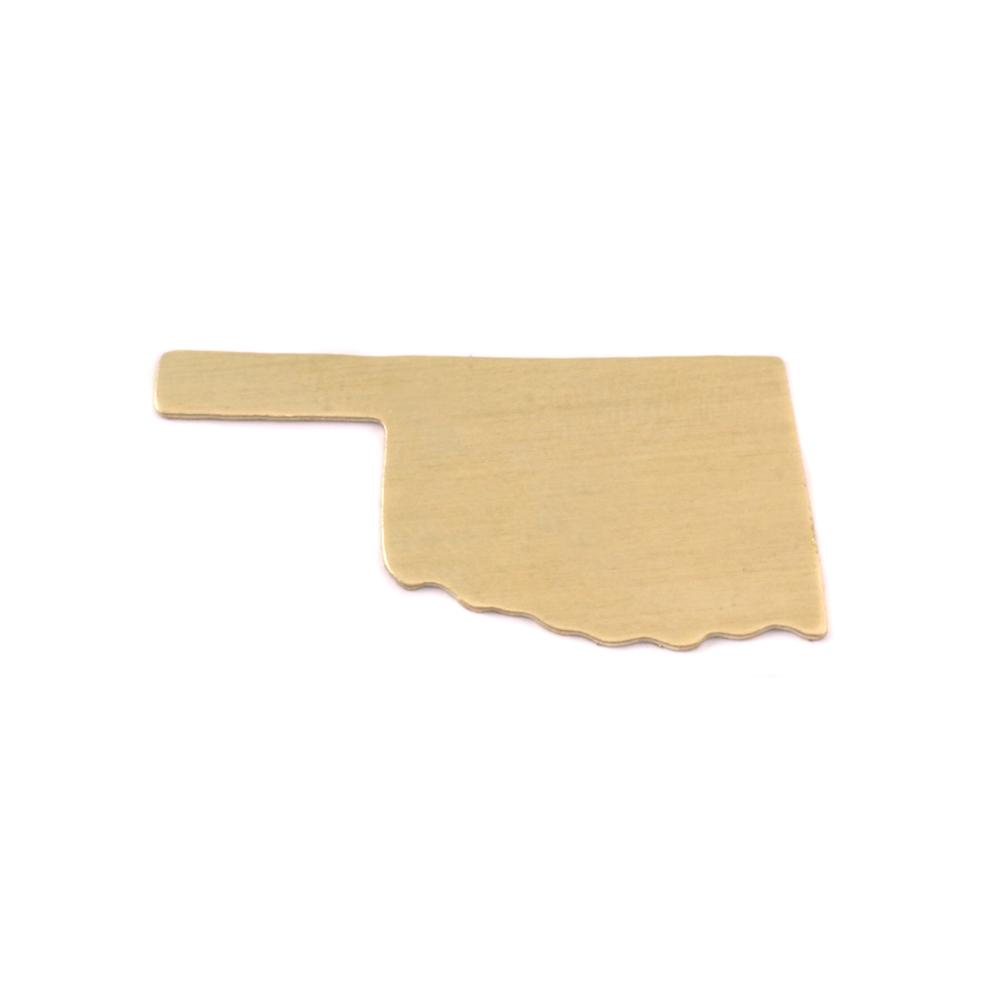 Metal Stamping Blanks Brass Oklahoma State Blank, 24g