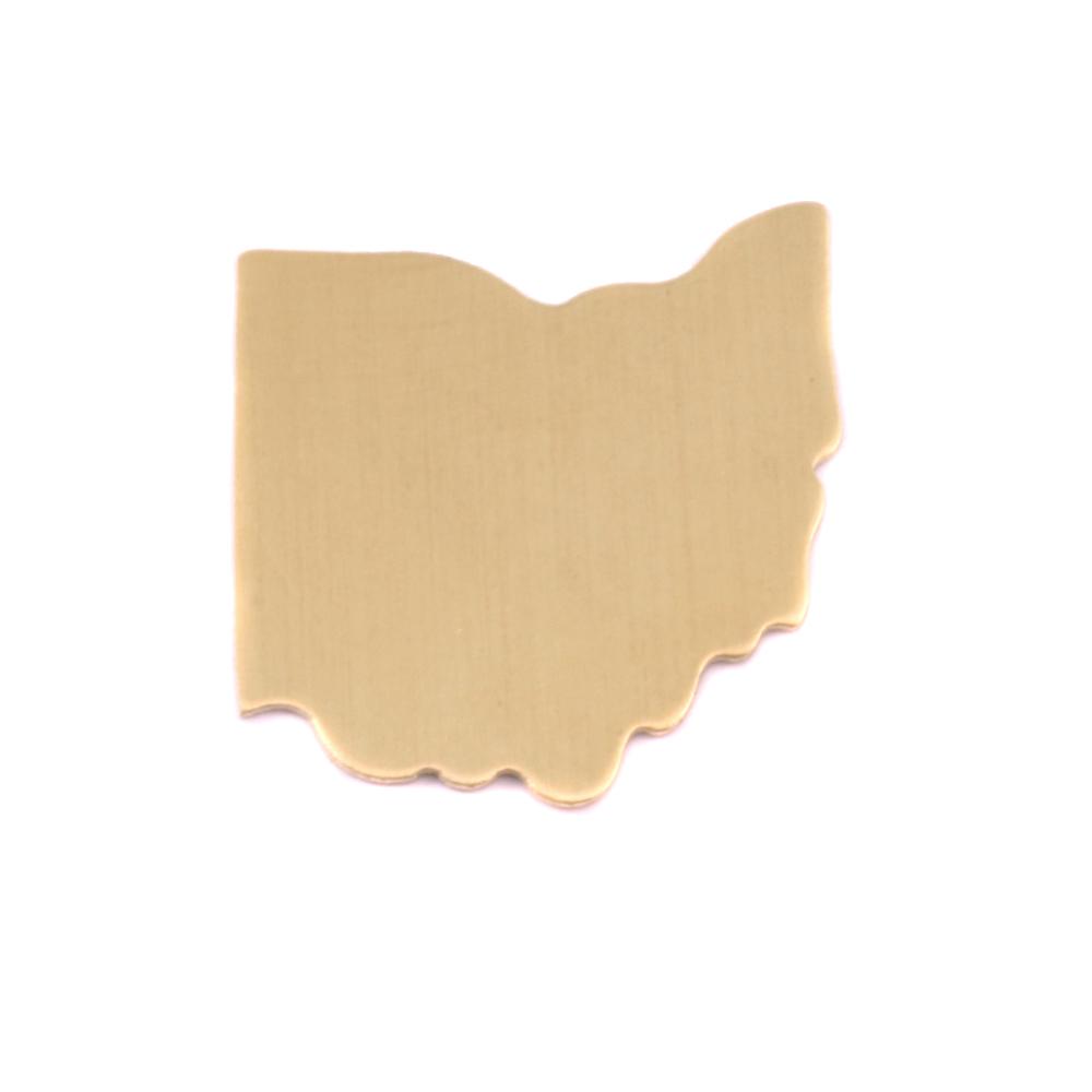 Metal Stamping Blanks Brass Ohio State Blank, 24g