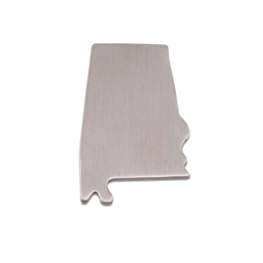 Metal Stamping Blanks Aluminum Alabama State Blank, 18g