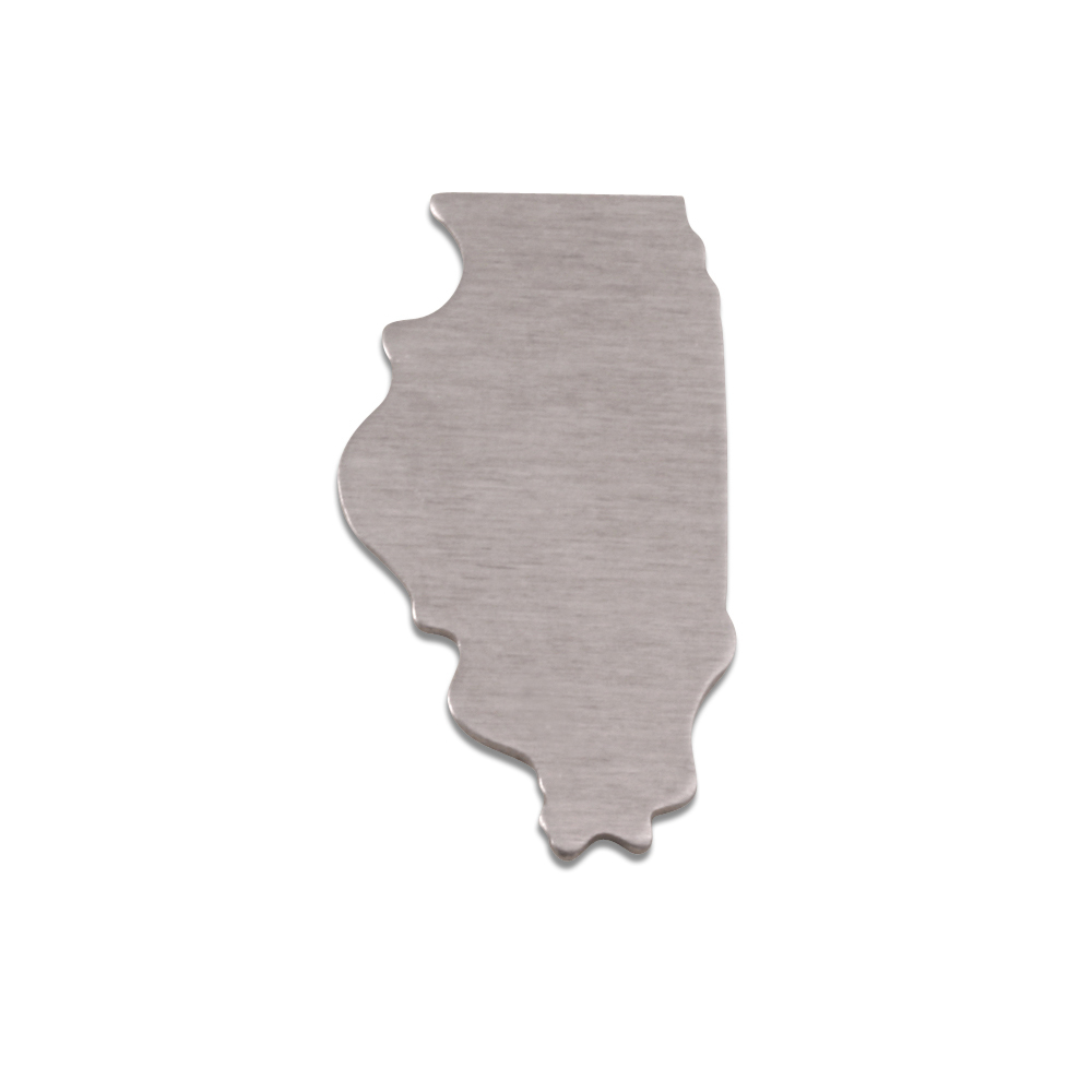 Metal Stamping Blanks Aluminum Illinois State Blank, 18g