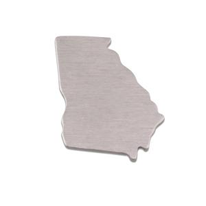 Metal Stamping Blanks Aluminum Georgia State Blank, 18g