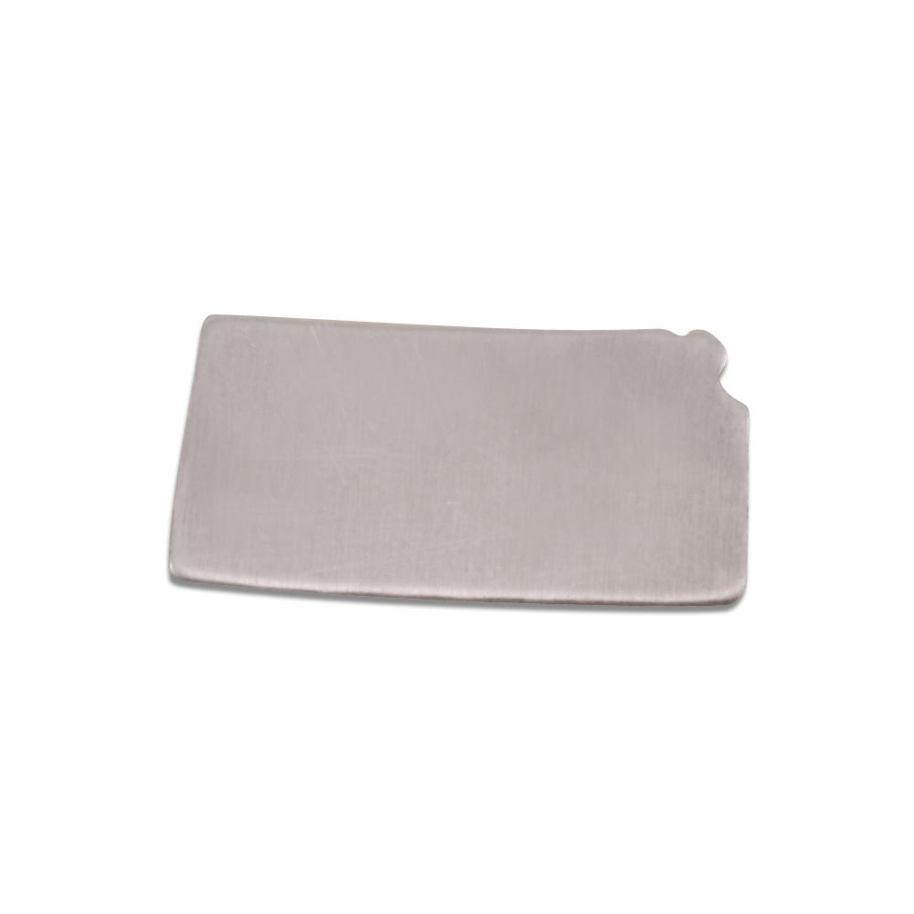 Metal Stamping Blanks Aluminum Kansas State Blank, 18g