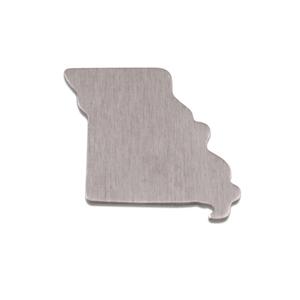 Metal Stamping Blanks Aluminum Missouri State Blank, 18g