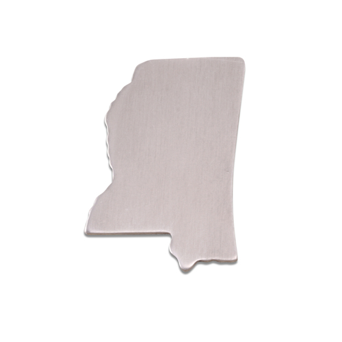 Metal Stamping Blanks Aluminum Mississippi State Blank, 18g