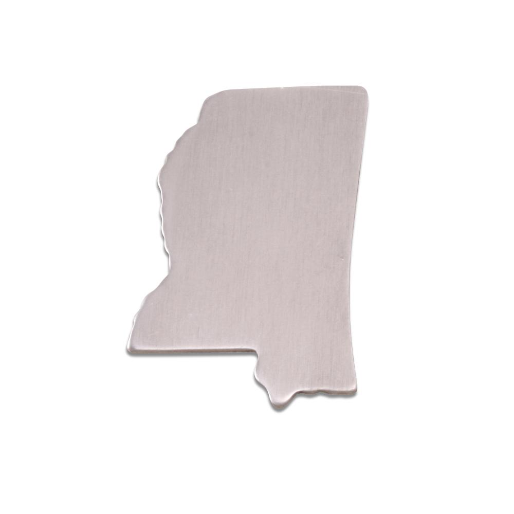 Metal Stamping Blanks Aluminum Mississippi State Blank, 18g