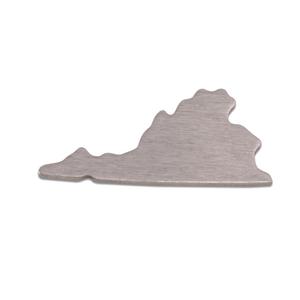Metal Stamping Blanks Aluminum Virginia State Blank, 18g