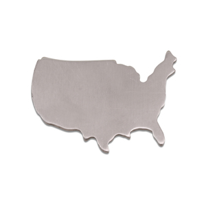 Metal Stamping Blanks Aluminum United States Blank, 18g, Pack of 5