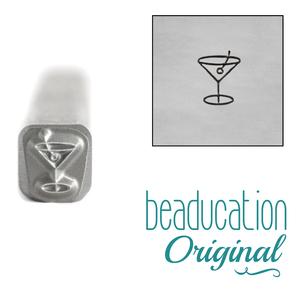 Metal Stamping Tools Cocktail Metal Design Stamp, 4.5mm - Beaducation Original