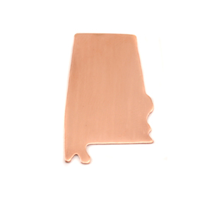 Metal Stamping Blanks Copper Alabama State Blank, 24g