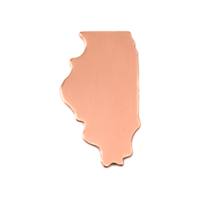 Metal Stamping Blanks Copper Illinois State Blank, 24g