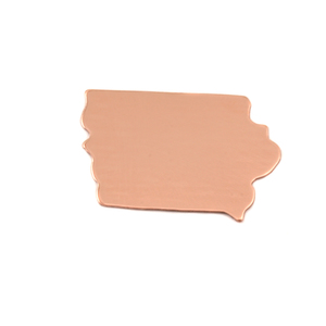 Metal Stamping Blanks Copper Iowa State Blank, 24g