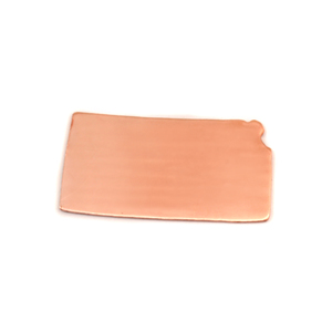 Metal Stamping Blanks Copper Kansas State Blank, 24g