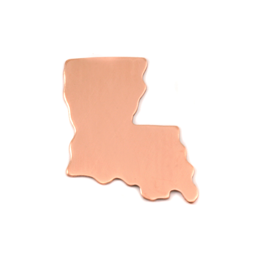 Metal Stamping Blanks Copper Louisiana State Blank, 24g