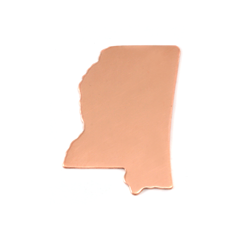 Metal Stamping Blanks Copper Mississippi State Blank, 24g