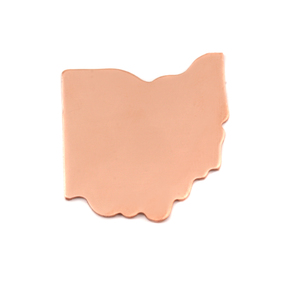 Metal Stamping Blanks Copper Ohio State Blank, 24g